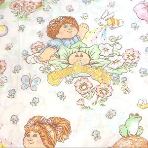 1983 Vintage Cabbage Patch Kids Twin Flat Sheet